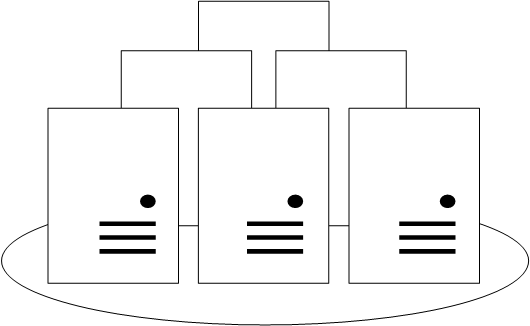 diagram of three server