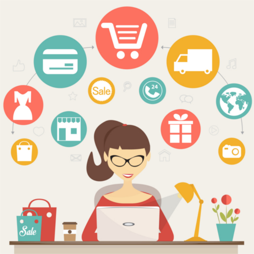 picture of an ecommerce shopper